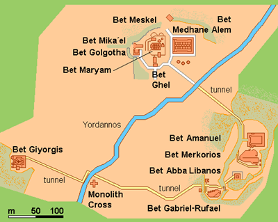Lalibela Area Map