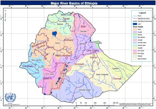 Ethiopia Major River Basins