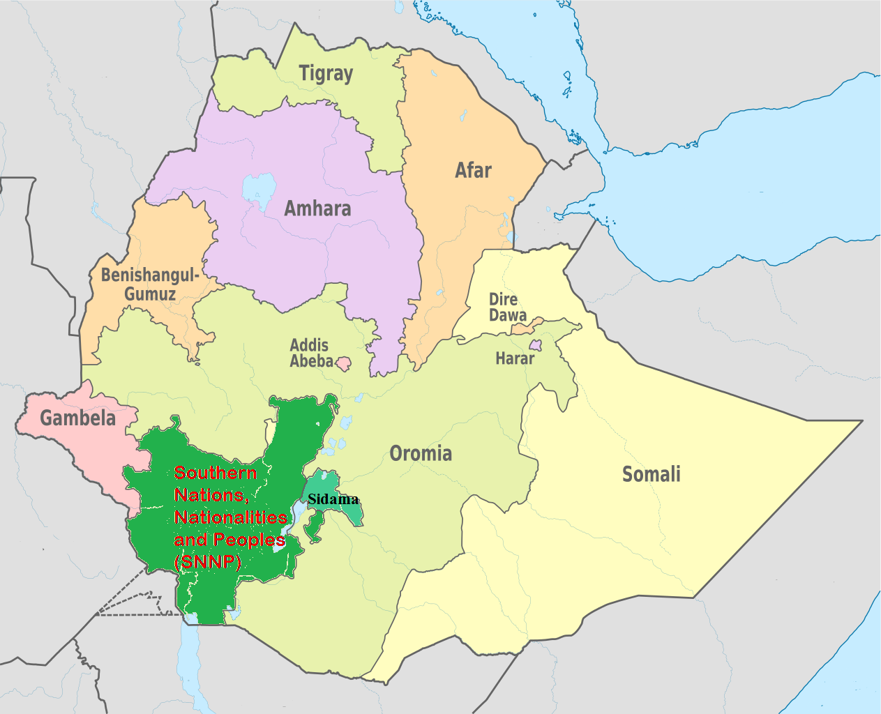 Southern nations nationalities and people snnpr ethiopia about southern nations nationalities and people snnpr region map gumiabroncs Choice Image
