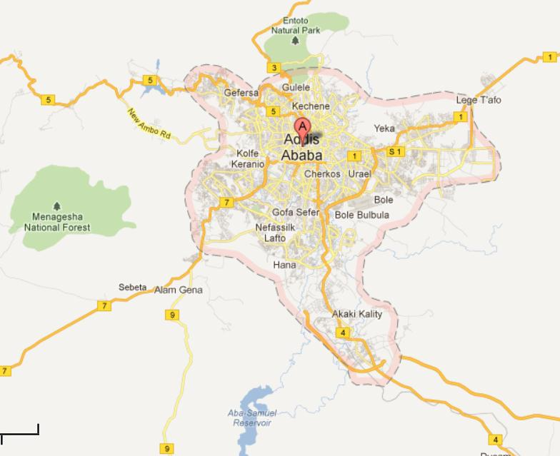 Addis ababa ethiopia top places to visit addis ababa city map gumiabroncs Images